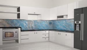 Vân đá cẩm thạch ốp bếp