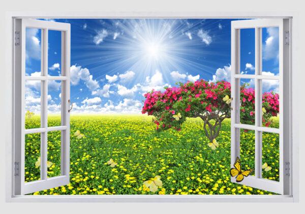 Tranh kính cửa sổ 3D